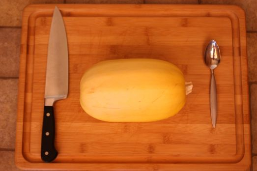 Wash your spaghetti squash