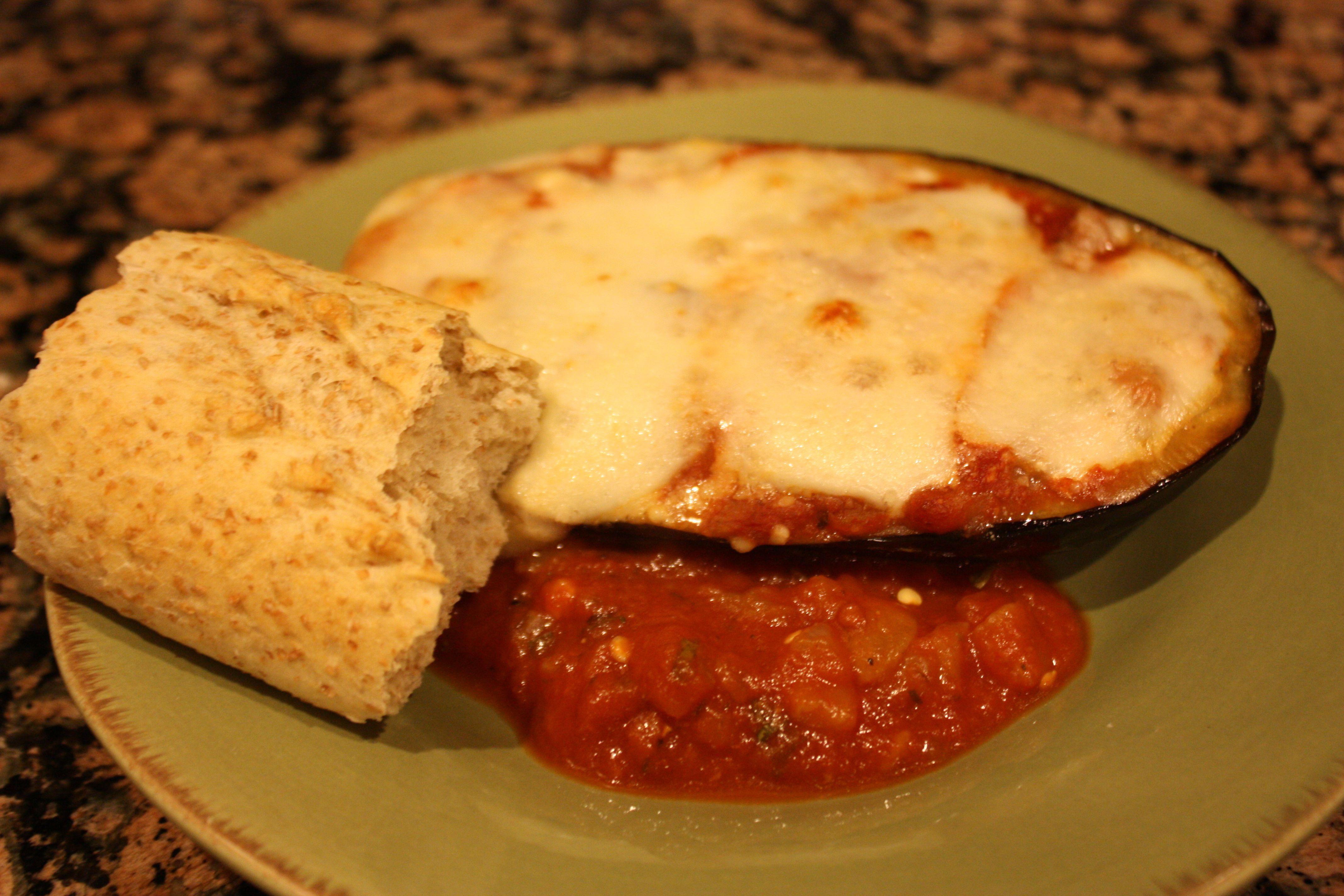 Eggplant Parm-lasagna on plate