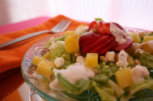 Pineapple Salad Closeup